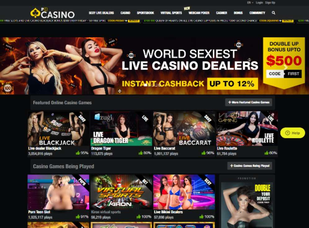 Pornhub Casino Screenshot