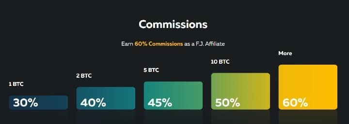 FortuneJack Affiliates Program Commissions