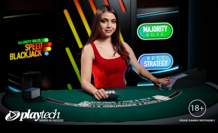 Playtech Announces Live Majority Rules Speed Blackjack