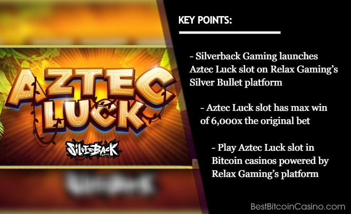 Silverback Gaming Unveils Aztec Luck Slot via Relax Gaming