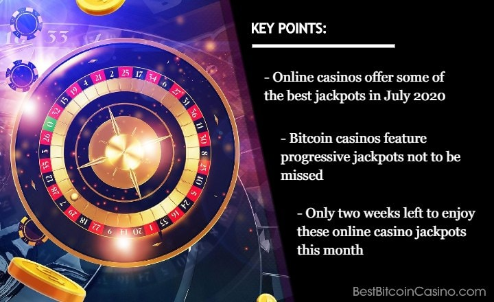 Best Online Casino Jackpots to Keep Your Eye on in July 2020