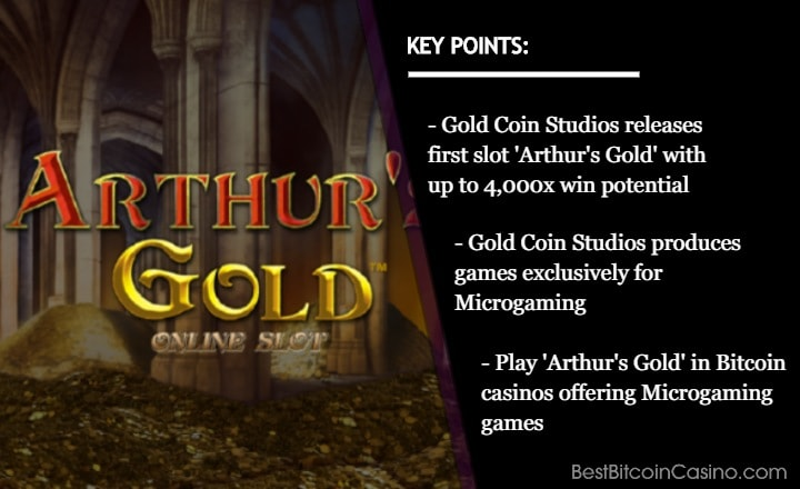 Uncover Fortunes in Gold Coin Studios' 'Arthur's Gold' in Microgaming Casinos with Bitcoin