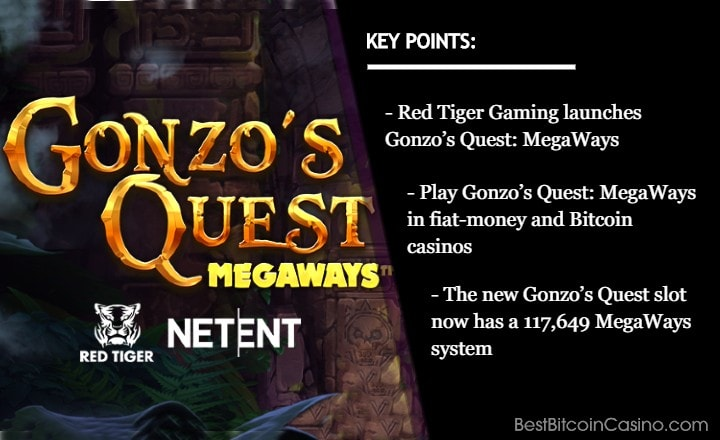 Red Tiger Gaming Gives NetEnt's 'Gonzo's Quest' the MegaWays Makeover