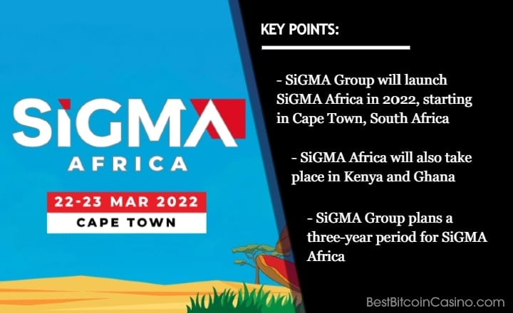 SiGMA Group Will Launch SiGMA Africa in Cape Town, Ghana & Kenya Over Three-Year Period