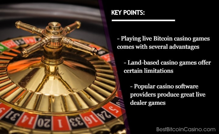 5 Reasons Why Live Bitcoin Casino Games Are Better Than Land-Based Games