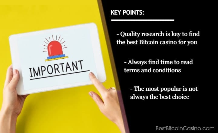 10 Things to Know When Choosing a Bitcoin Casino