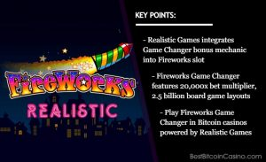 Realistic Games' Fireworks Game Changer Set to Light Up in Bitcoin Casinos