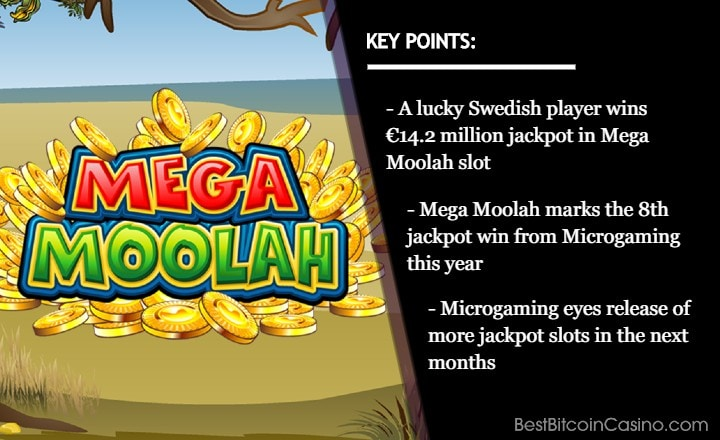 Mega Moolah Becomes 8th Jackpot Slot to Pay in 2020