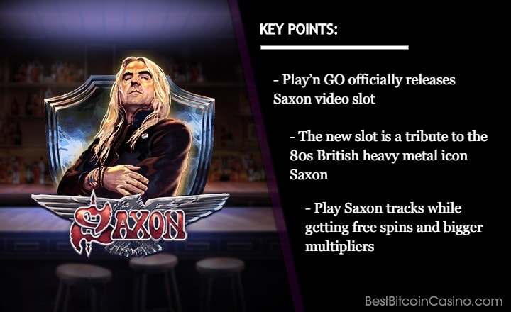 Play'n GO Brings Back 80s Heavy Metal Music With Saxon Slot