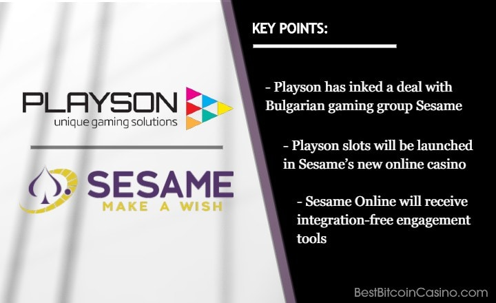 Playson Slots to Go Live in Sesame's New Online Casino