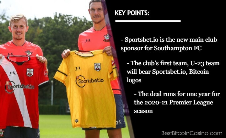 Southampton FC Shirts to Feature Sportsbet.io, Bitcoin in 2020-21 Premier League