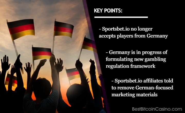 Sportsbet.io Exits Germany Amid New Regulation Framework
