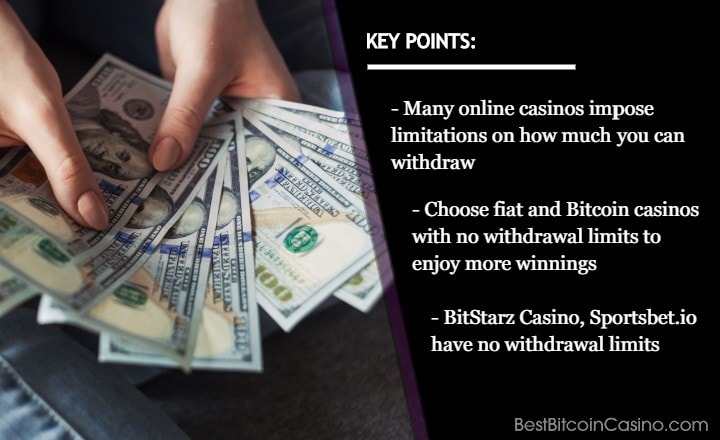 Top 5 Fiat & Bitcoin Casinos With No Withdrawal Limits in 2020