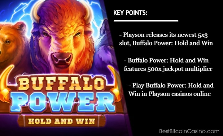 Playson's 'Buffalo Power: Hold and Win' Now in Online Casinos