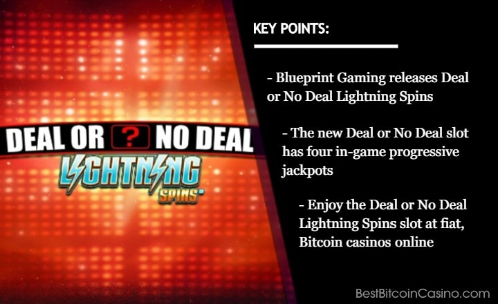 Iconic Deal or No Deal Brand Now With Lightning Spins Bonus
