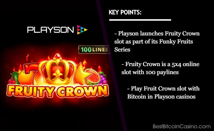 Playson Expands Funky Fruits Series with Fruity Crown Release