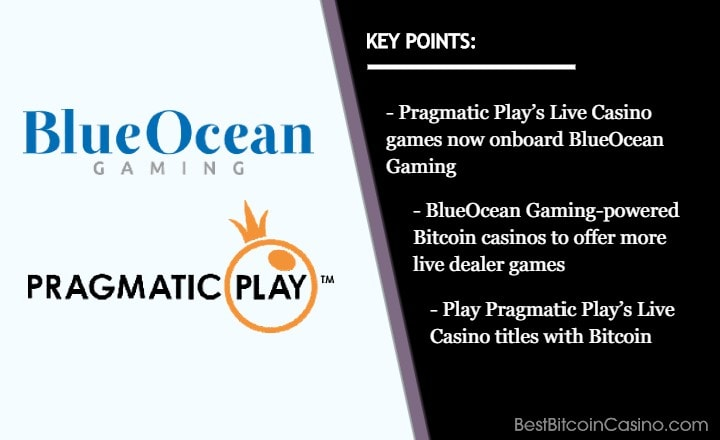 BlueOcean Gaming Welcomes Pragmatic Play Live Casino Games