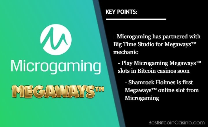 Microgaming Slots to Feature Popular Megaways Mechanic