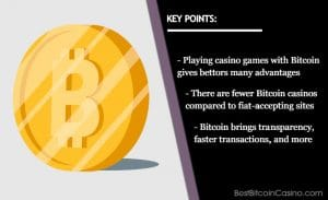 Advantages of Bitcoin in the Best Online Casinos