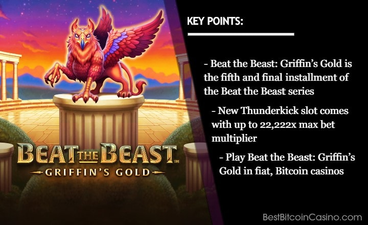 Thunderkick Releases Beat the Beast: Griffin's Gold Slot