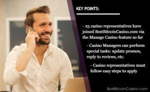 25 Casino Managers Now On Board BestBitcoinCasino.com