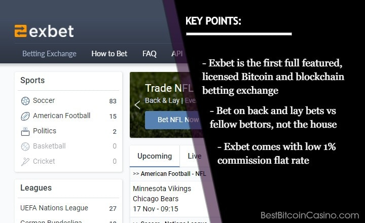 Exbet Changes Landscape of Bitcoin Sports Betting