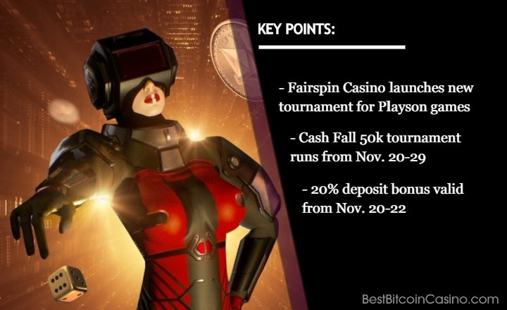 Join Cash Fall 50k Tourney & Get 20% Bonus at Fairspin