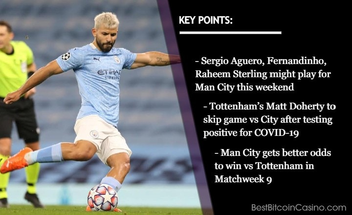 Tottenham Loses Key Player, Man City Gets Nod from Odds