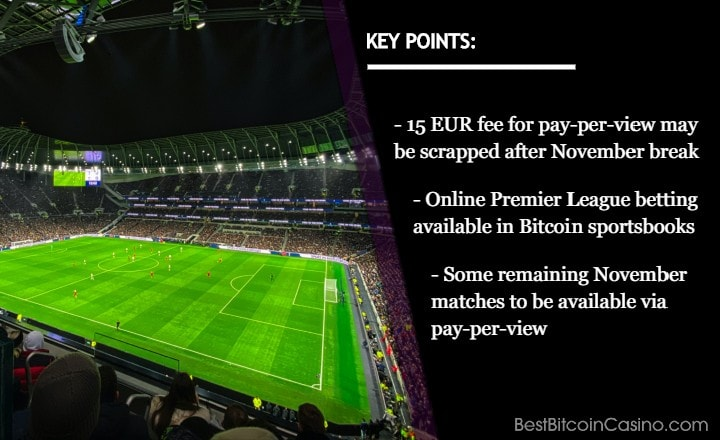 No More Pay-per-View Model for Premier League Amid Second Lockdown?