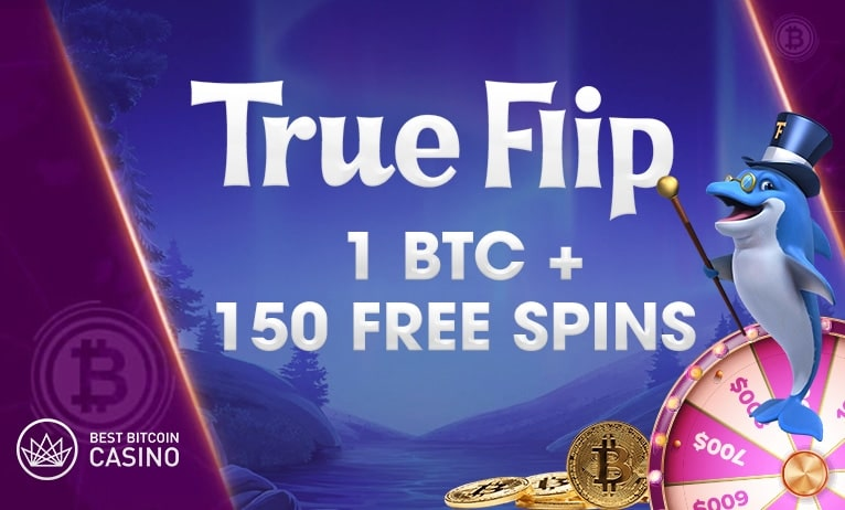 TrueFlip.io welcomes you with some fine bonus and free spins