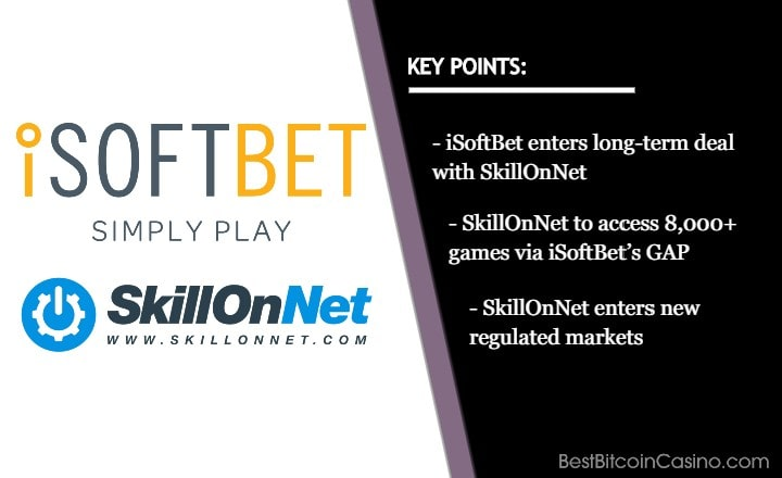 iSoftBet Expands Market via Long-Term Partnership with SkillOnNet