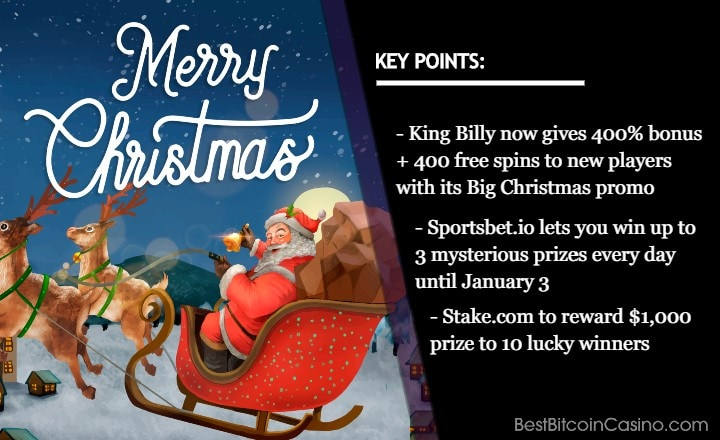 Christmas Promos From Top Crypto Casinos Just for You