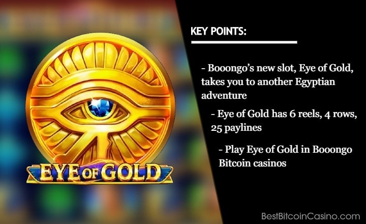 New Egyptian Adventure Awaits in Booongo's Eye of Gold