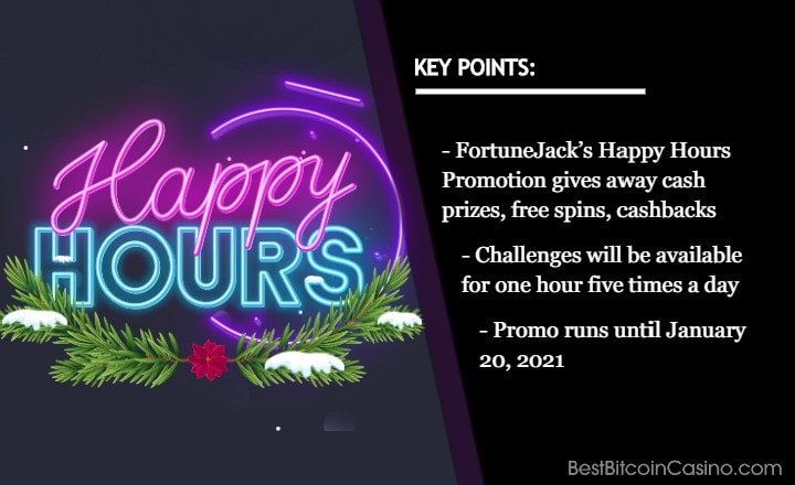 Never Miss FortuneJack's Happy Hours Promotion