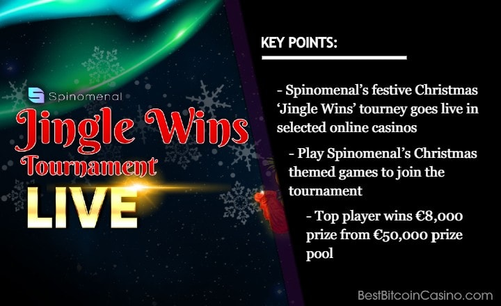 Festive Christmas 'Jingle Wins' Network Tourney Goes Live at Selected Spinomenal Casinos