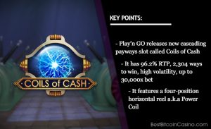Play'n GO Electrifies 2021 With New Coils of Cash Slot
