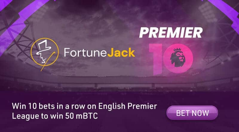 Win 50 mBTC at FortuneJack with Premier League bets!