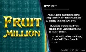 BGaming's Fruit Million Slot Returns With New Look