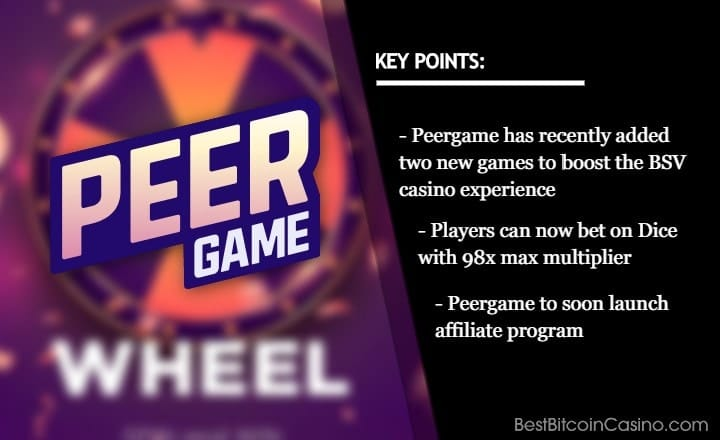 Peergame Adds New Games, Increases Dice Max Multiplier