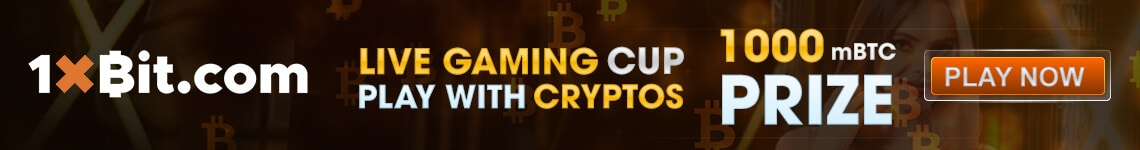 1xBit Live Gaming Cup Play with Cryptos