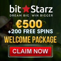 500 Euro plus 200 Free Spins Welcome Package